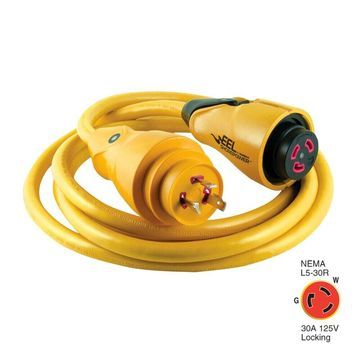 MARINCO CS30-12 EEL SHOREPOWER CORDSET 30A 125V 12 YELLOW