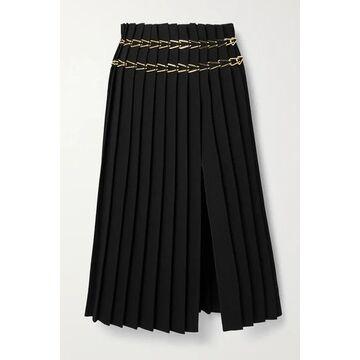 Dion Lee - Chain-embellished Pleated Crepe Midi Skirt - Black