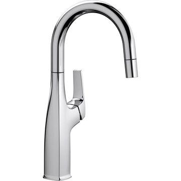BLANCO Rivana Polished Chrome 1-Handle Deck-Mount Bar and Prep Handle Kitchen Faucet   442681