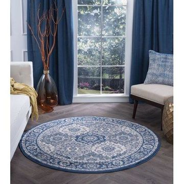 Bliss Rugs Newman Traditional Indoor Round Area Rug