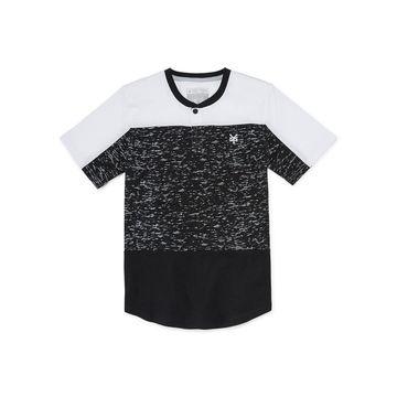 Zoo York Boys Henley Neck Short Sleeve T-Shirt-Big Kid Husky