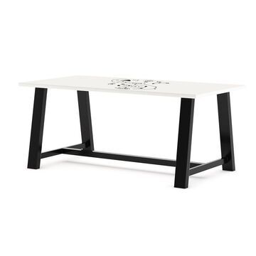 KFI Whiteboard Conference Table, Trestle Base