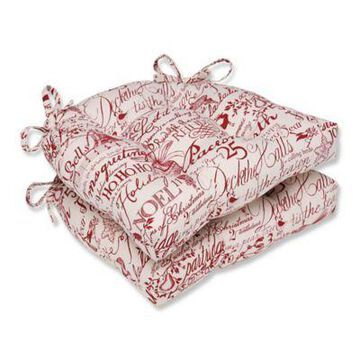 Pillow Perfect Holiday Chair Pads in Red (Set of 2)