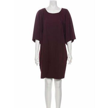Msgm Scoop Neck Mini Dress Purple Msgm Scoop Neck Mini Dress