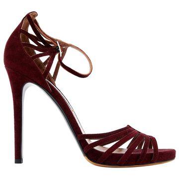 Tabitha Simmons Burgundy Suede Sandals
