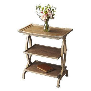 Offex Transitional Side Table Driftwood