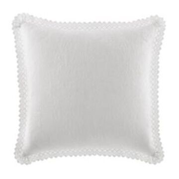 Laura Ashley Solid White Square Pillow Bedding