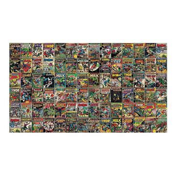 Marvel Comic Covers Peel & Stick Wallpaper Mural by RoomMates, Yellow