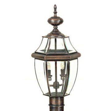 Quoizel Newbury Outdoor 2-Light Post Lantern in Antique Copper