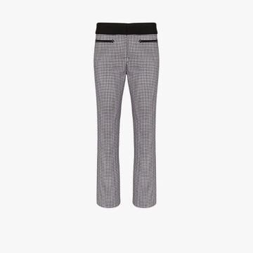 Paco Rabanne houndstooth cropped slim trousers