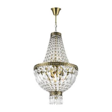 Worldwide Lighting Metropolitan 5-Light Antique Bronze Glam Crystal Candle Chandelier