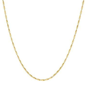 14K Yellow Gold 20 Inch Textured Link Chain by Beverly Hills Charm