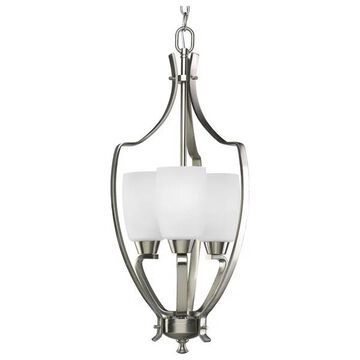 Progress Lighting P3509-09 3-Light Foyer with Etched Glass