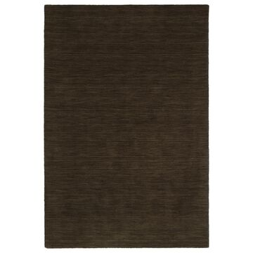 Kaleen Renaissance 3 x 5 Chocolate Solid Lodge Handcrafted Throw Rug in Brown | 4500-40-35