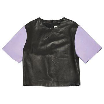 Fausto Puglisi Black Leather Tops