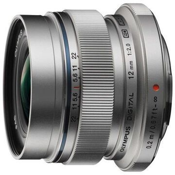 Olympus M.ZUIKO DIGITAL V311020SU000 - 12 mm - f/2 - Wide Angle Lens for Micro Four Thirds - 46 mm Attachment - 0.08x Magnification - 1.7