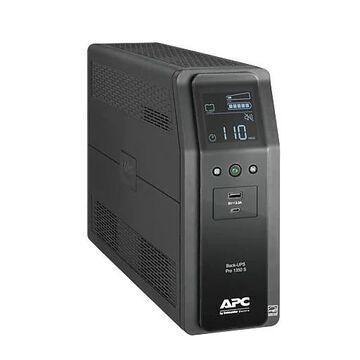 APC Series 1350VA Battery Backup UPS, 10-Outlets, Black (BR1350MS)