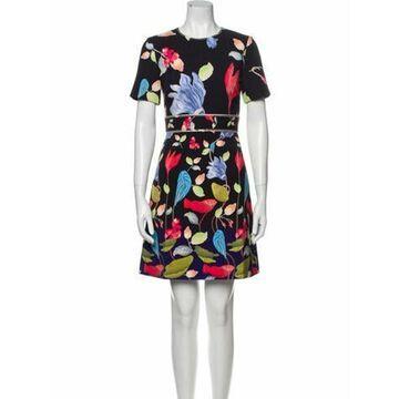 Scoop Neck Knee-Length Dress w/ Tags Black