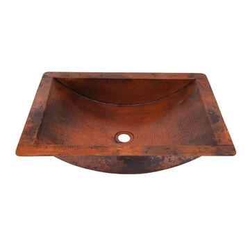 Novatto Merida Copper Bathroom Sink and Oil Rubbed Bronze Strainer Drain