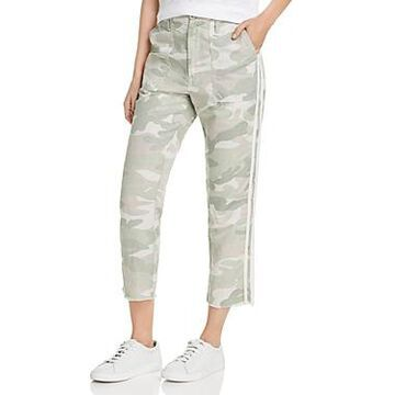 Mother The Shaker Cropped Frayed Camo Pants