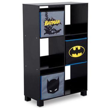 DC Comics Batman 6-Cubby Deluxe Storage Unit in Black