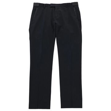 Thierry Mugler \N Navy Cotton Trousers