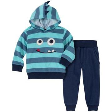 Kids Headquarters Baby Boys Spiked Hood Fleece Pullover and Joggers, 2 Piece Set
