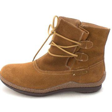 Wanderlust Womens Kiara Suede Closed Toe Ankle Fashion Boots
