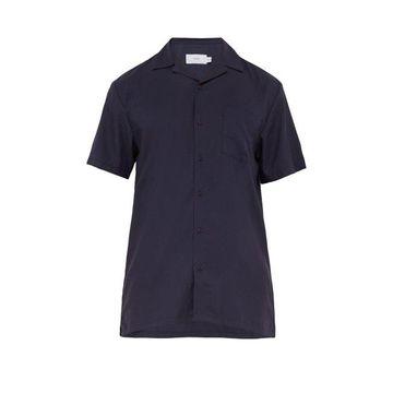 Onia - Vacation Poplin Shirt - Mens - Navy