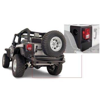 Bushwacker 07-18 Jeep Wrangler Trail Armor Rear Corners - Black