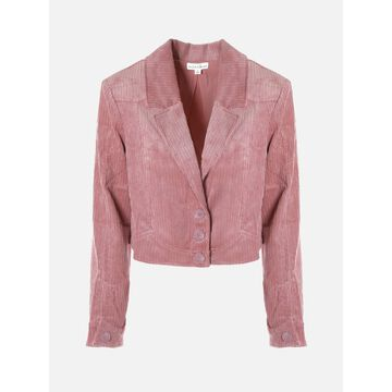 For Love & Lemons Velvet Cropepd Blazer