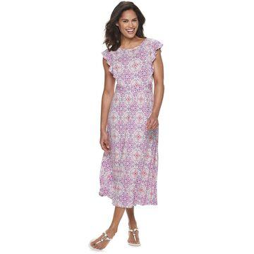 Women's Croft & Barrow Flutter Dress
