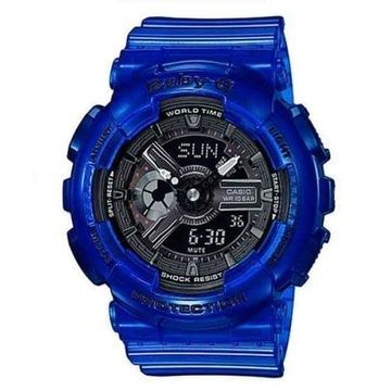 Casio Women's BA110CR-2A 'Baby G' Blue Resin Watch