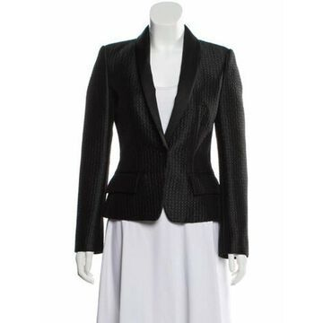 Textured Shawl-Lapel Blazer w/ Tags Black