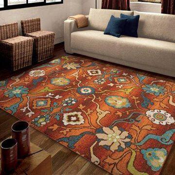 Orian Rugs Bright Color Floral Punjab Multi Area Rug