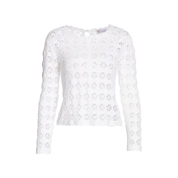REDValentino Lace Long Sleeve Top