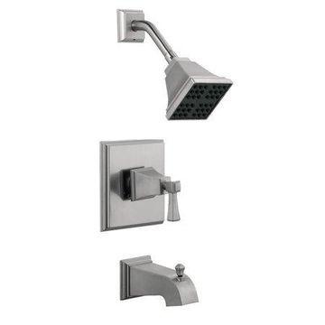 Design House 522029 Torino Bath and Shower Trim with Valve, Satin Nickel