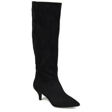 Brinley Co. Womens Wide Calf Comfort Foam Pointed Toe Slouch Boot