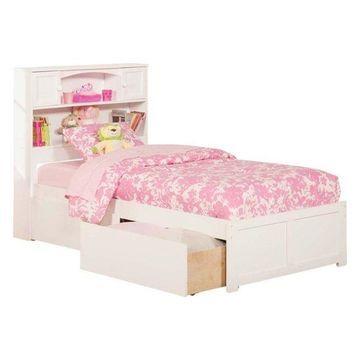 Atlantic Furniture Newport Urban Twin Storage Platform Bed, White