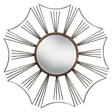 Sunburst Metal Decorative Wall Mirror Gold - PTM Images