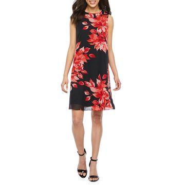 Jessica Howard Sleeveless Floral A-Line Dress