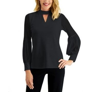 Jm Collection Sheer-Sleeve Top, Created for Macy's
