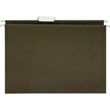 Business Source 1/5 Cut Standard Hanging File Folders - Green - 8 1/2