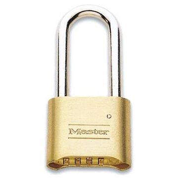 Master Lock Resettable Combination Padlock, Brass, 2