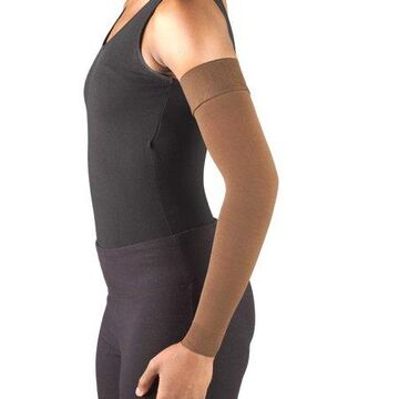 Truform Lymphedema Compression Arm Sleeve, Dot Top: 20-30 mmHg, Brown, Small