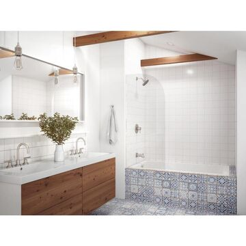 Jacuzzi Solna 42-in W x 60-in L White Acrylic Rectangular Reversible Drain Drop-In Bathtub