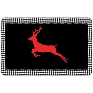 Bungalow Flooring Reindeer Houndstooth Premium Comfort Mat - 22