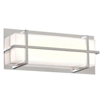 Plc Lighting 55012Pc Brooklan Led S. Vanity Light,Polished Chrome