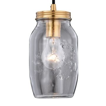 Vaxcel Lighting P0188 Jar Mini Pendant Single Light 4-1/2