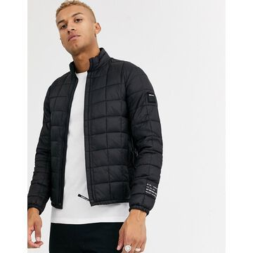 Replay recycled padded light weight puffer jacket in black